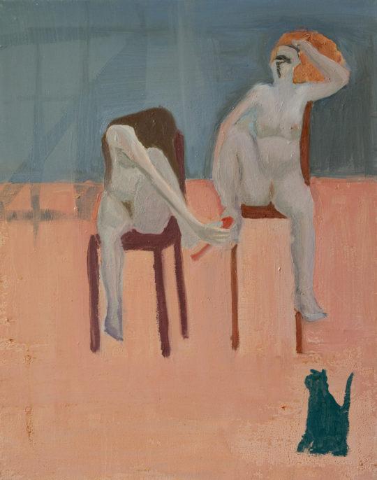 Sans Titre, 2007, huile sur toile, 40 x 50 cm