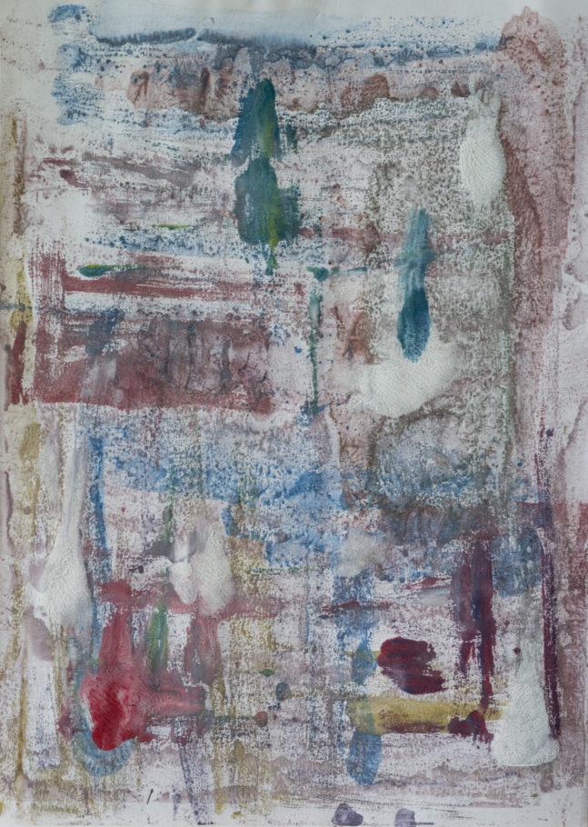 Sans Titre, 2018, Monotype, 30 x 42 cm