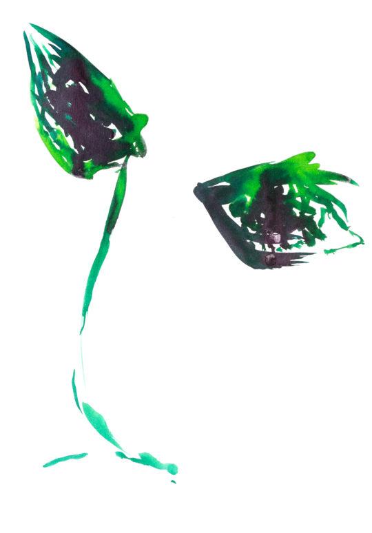 Sans Titre, 2018, encre sur papier, 30 x 42 cm
