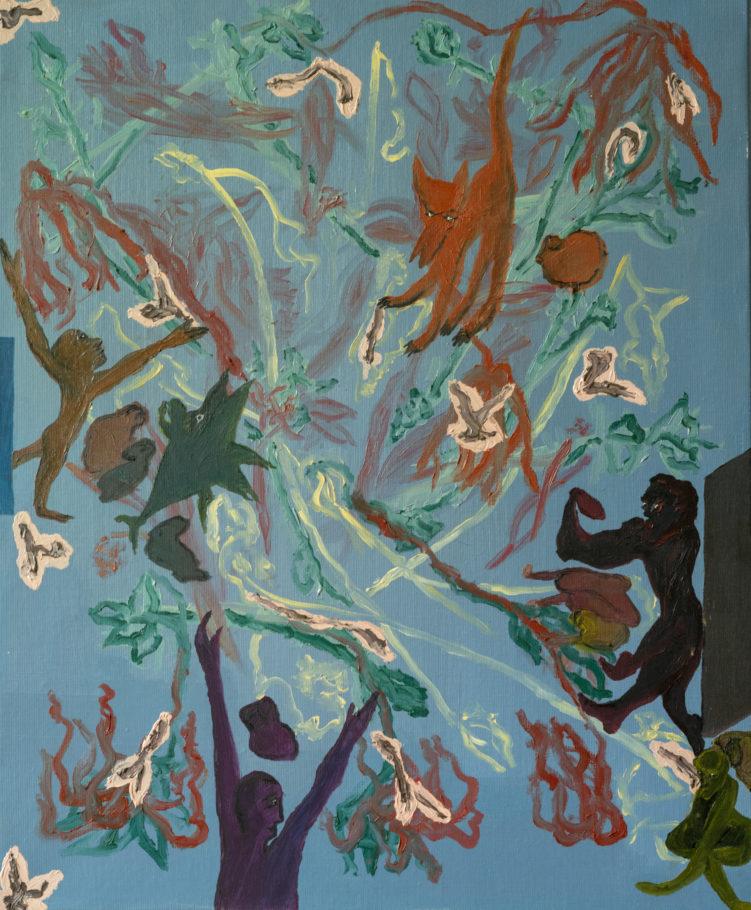 """""""Mondes rêvés"""", 2011, huile sur toile, 50 x 61 cm"""